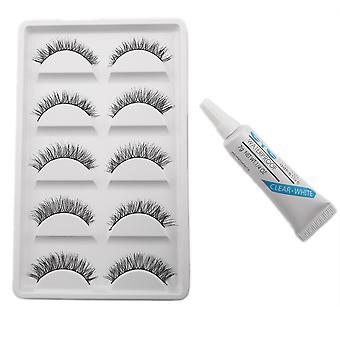 10pcs luxueux faux cils-Nellie - colle