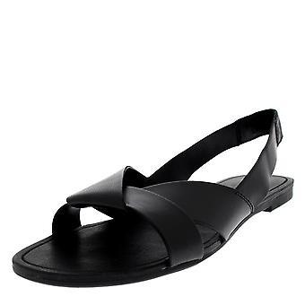 Naisten Vagabond Tia slingback nahka musta avoin toe muoti sandaalit