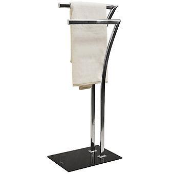 Sieben - Metall 2 Sprosse Handtuchhalter / Wschetrockner - Silber
