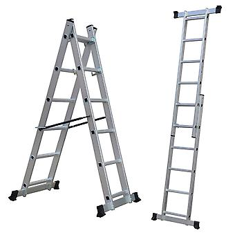 Charles Bentley 5 Weg Aluminium Multi Purpose Scaffolding Ladder Step Platform