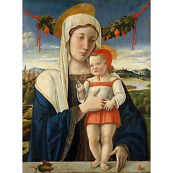Madonna und Kind, Heidner Bellini, 50x37cm