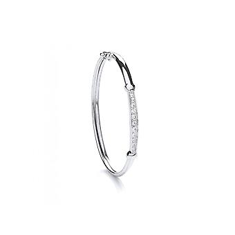 Eternity Sterling Silver Cubic Zirconia Set Childs Bangle