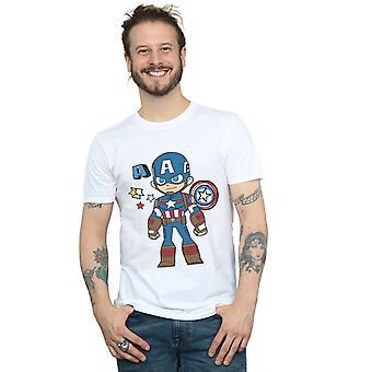 Marvel Men's Captain America Sketch T-Shirt