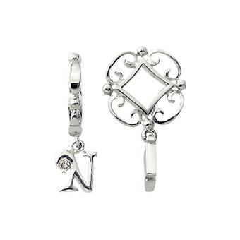 Storywheels Silver N ensimmäinen Dangle Charm S213D