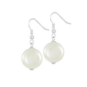 Eternal Collection Bloomsbury valkoinen kuori kolikon Pearl Silver Tone Drop lävistetyt korva korut