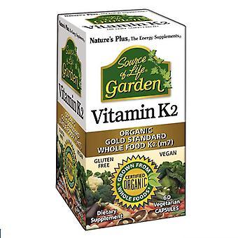 Nature's Plus Source of Life Garden Organic Vitamin K2 120mcg VCaps 60 (30737)