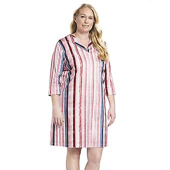 Rösch 1194526-16397 Women's Curve Multicoloured Striped Cotton Nightdress