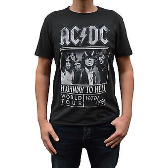 Ενισχυμένο AC/DC αυτοκινητόδρομο στην κόλαση αφίσα κάρβουνο πληρώματος λαιμό T-shirt