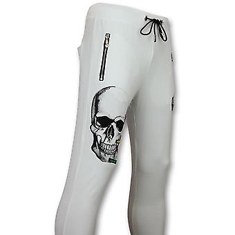 Sportbroek -  Joggingbroek    Color Skull - Wit