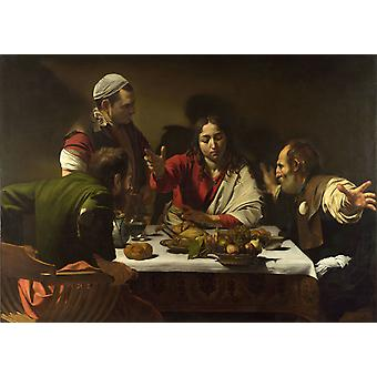 The Supper at Emmaus, Caravaggio, 50x36cm