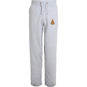 Queens Lancashire Regiment - lizenzierte britische Armee bestickt offenen Hem Sweatpants / Jogging Bottoms