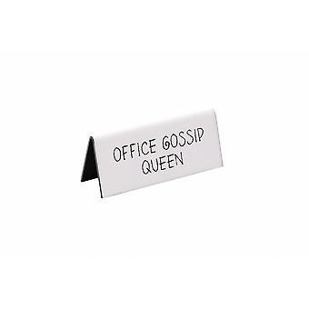 Estritamente negócios Office fofoqueira sinal de mesa