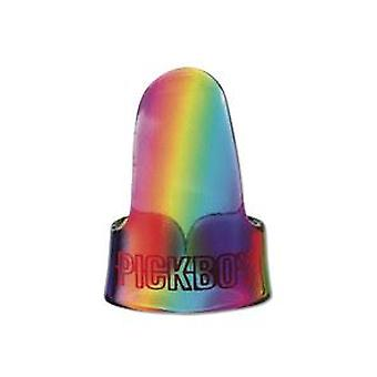 3 Pickboy Finger Guitar Picks/Plectrums - Rainbow 1.20mm