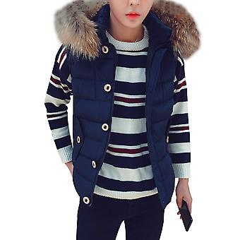 Allthemen Men's Cotton Vest Thickened Slim Fit Winter Hooded Waistcoat