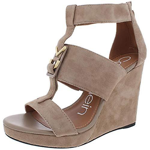 Calvin Klein Womens Racquel koe Leer open teen casual platform sandalen - Gratis verzending jfCrWW
