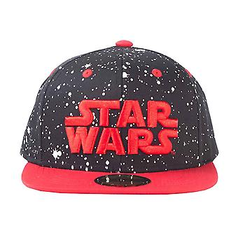Star Wars Baseball Cap Red Space Logo new Official Black Snapback