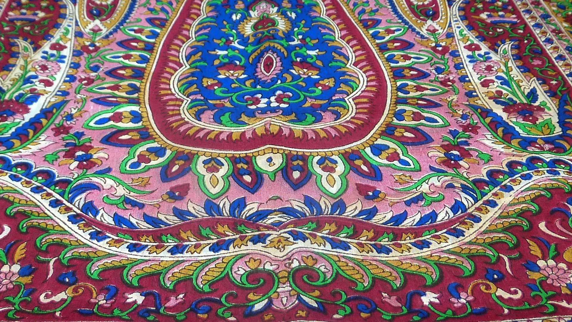 Mulberry Silk Traditional Long Scarf Karita Wine by Pashmina & Silk