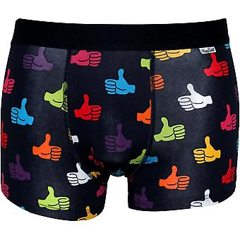 Happy Socks Thumbs Up Boxer Trunk, Navy/multi