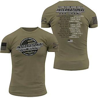 Grunt Style International Bar Crawl T-Shirt - Olive Green