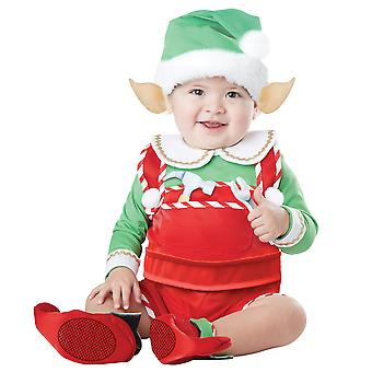 Babbo Natale Lil Helper Elf Natale Festival Bambino Bambino Ragazzi Ragazze Costume