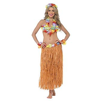 Womens Hawaiian Hula honing Instant Kit Fancy Dress accessoire