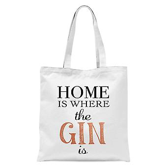 Home Is Where The Gin Is Tote Bag - White