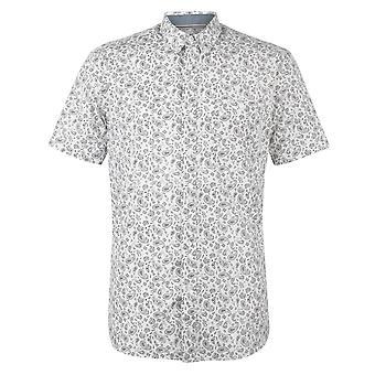 Pierre Cardin Homme Short Sleeve Geometric Shirt Top
