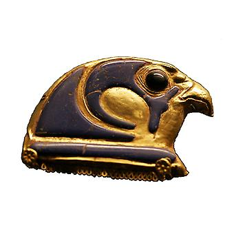 Sticker Sticker Ancient Egypt Ancient Egyptian Falcon Amulet Gold Macbook