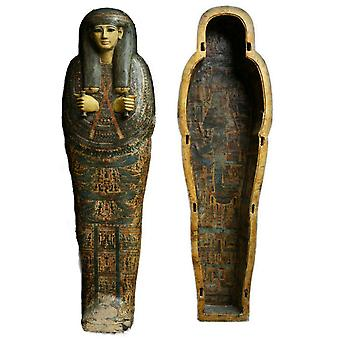 Set 2X Sticker Sticker Ancient Egyptian Ancient Egyptian Mummy Sarcophagus