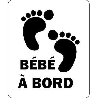 Adesivo Macbook laptop auto moto Bebe A Black Edge Foot Bambino