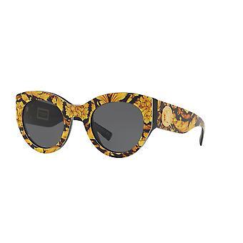 Versace VE4353 528387 Baroque Yellow-Black/Grey Sunglasses