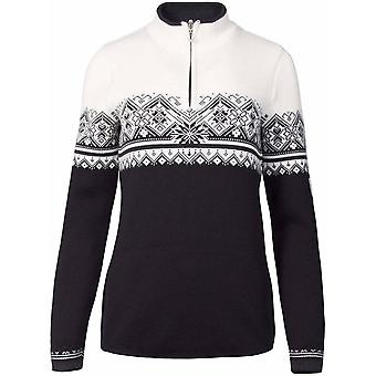 Dale of Norway Women's St. Moritz Sweater - Black/White/Dark Charcoal