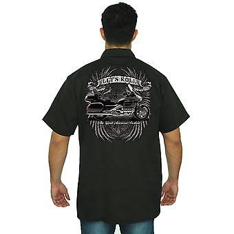 Mężczyźni-koszula mechanika niech Roll The Great American rozrywką