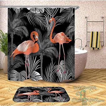 Dim Pink Flamingos Shower Curtain