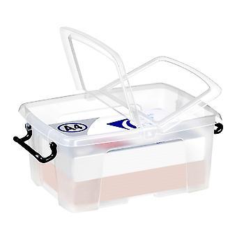 Strata Pack De 5 - 12 Litres Strata Smart Storemaster Boîtes de stockage en plastique avec couvercles
