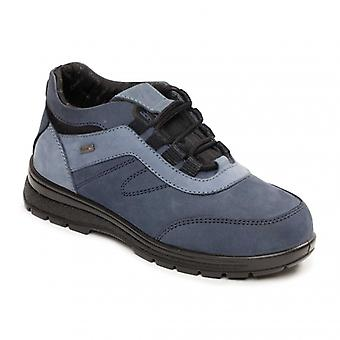 Padders Jump Ladies Leather Extra Wide (2e/3e) Boots Navy