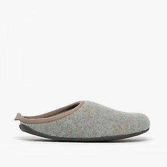 Camper Wabi Mens Felt Mule Slippers Beige/grey