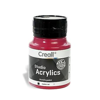 Creall Havo05011 500 ml 11 Madder Red Havo Studio Acrylics Paint Bottle