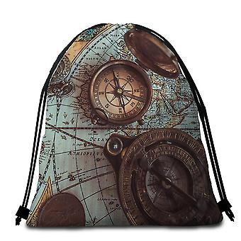 Vintage kompas strandlaken