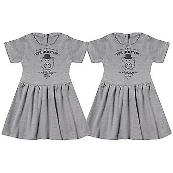 Evil Porkchop Twins Baby Dress Twins, Baby Girl Twins, Baby Gift