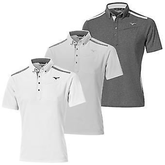 Mizuno Uomo Golf Breath Thermo SS Moisture Wicking Polo Camicia