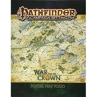 Campaña de Pathfinder configuración de la guerra para el cartel de la corona mapa folio libro