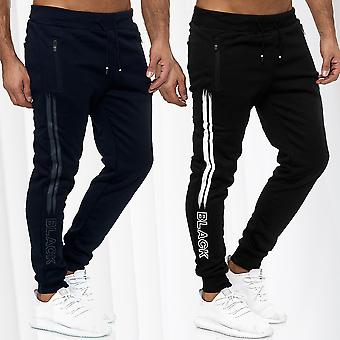 Men's Trackpants Jogging Trousers Activewear Long Fitness Sports Pants Stripes