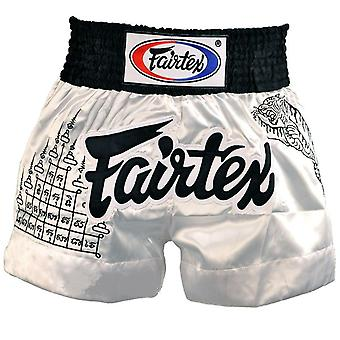 Fairtex superstition muay thai shorts - white
