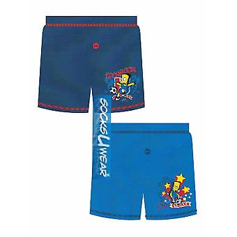 Boys Official Bart Simpsons Cartoon Character Boxer Short Underwear 5-12 years
