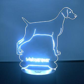 Weimaraner Dog Colour Changing LED Acrylic Light