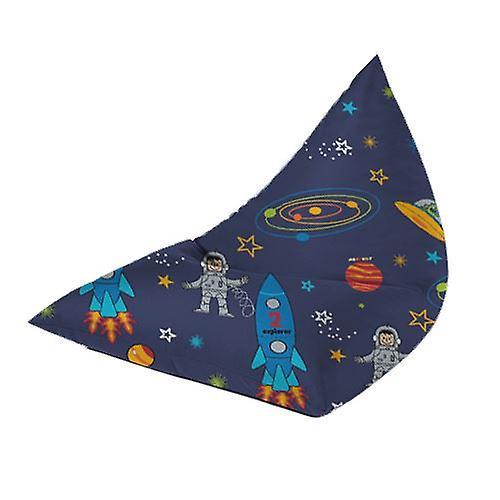 Grands Enfants apos;s Prints Pyramid Shaped Bean Bags Meubles BLACK FRIDAY DEALS[Space Boy]