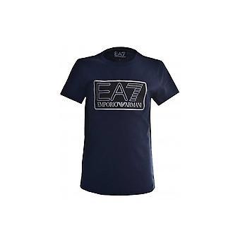 EA7 Boys EA7 Kids Navy Blue T-Shirt