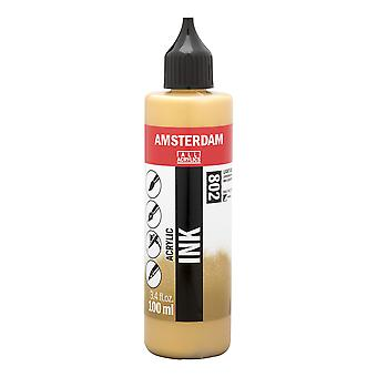 Amsterdam Akrylowy atrament 100ml (802 Light Gold)