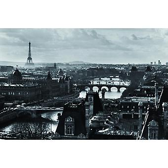 Paris Retro Poster s/w   Riesenposter 100 x 140 cm